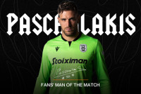 Fans' Man of the Match ο Πασχαλάκης
