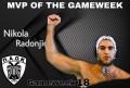 MVP της αγωνιστικής εβδομάδας ο Νίκολα Ράντονιτς!