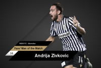 Fans' Man of the Match ο Α.Ζίβκοβιτς