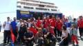 Σαν πρωταθλητές έφτασαν στη Σύρο (video)