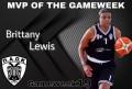 MVP της αγωνιστικής εβδομάδας η Brittany Lewis!
