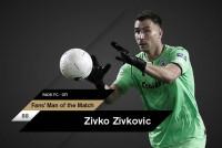Fans' Man of the Match ο Ζίβκοβιτς