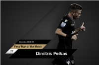 Fans' Man of the Match ο Πέλκας