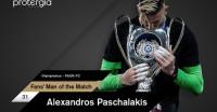 Fans' Man of the Match o Πασχαλάκης
