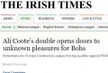 Αποθέωση για Μποέμιαν από τον Τύπο της Ιρλανδίας: «Άγνωστες απολαύσεις με Κόουτ…»